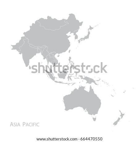 Map of Asia Pacific. Royalty-Free Stock Photo #664470550