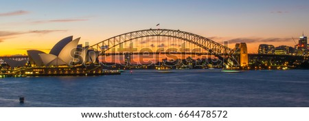 View of Sydney Harbour Royalty-Free Stock Photo #664478572