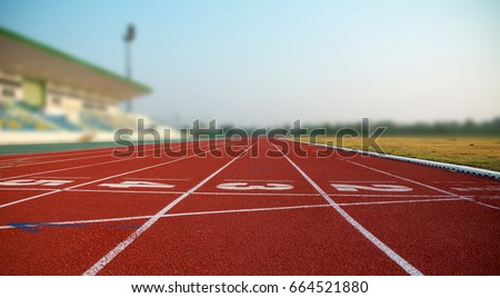 Athlete Track or Running Track  #664521880