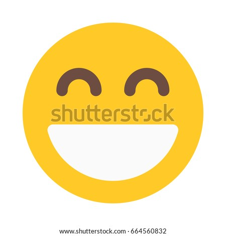 smiling emoji with open mouth Royalty-Free Stock Photo #664560832
