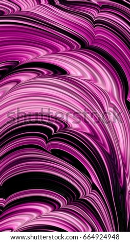 Abstract textured swirl pattern. Bold, colorful 3D illustration. #664924948