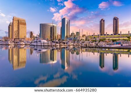 San Diego, California, USA downtown city skyline.