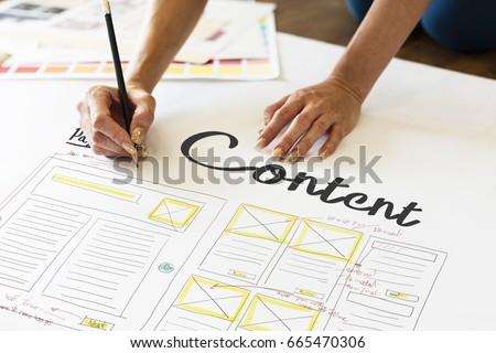 Web Design Creative Design Creativity Ideas Connection Royalty-Free Stock Photo #665470306