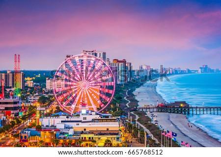 Myrtle Beach, South Carolina, USA city skyline. Royalty-Free Stock Photo #665768512