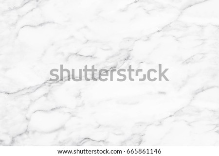 White marble texture with natural pattern for background. #665861146