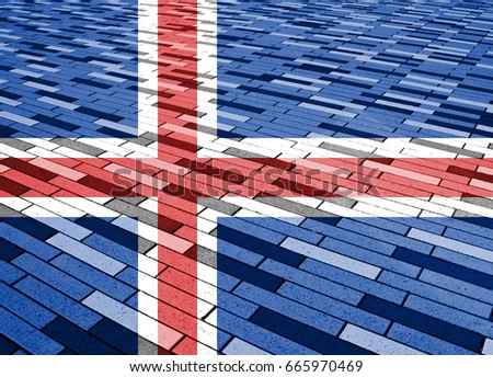 Flag of Iceland #665970469