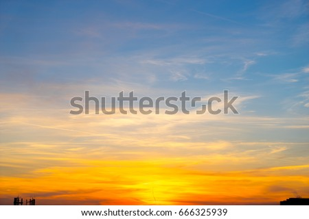 Sunset sky background #666325939