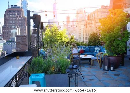 New York City rooftop #666471616