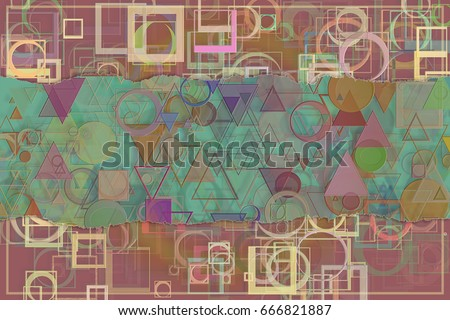 Blank abstract pattern background for name, caption or title. Suitable for web page, graphic design, catalog or texture. #666821887