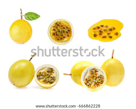 Passion fruit isolated on white background. Collection #666862228