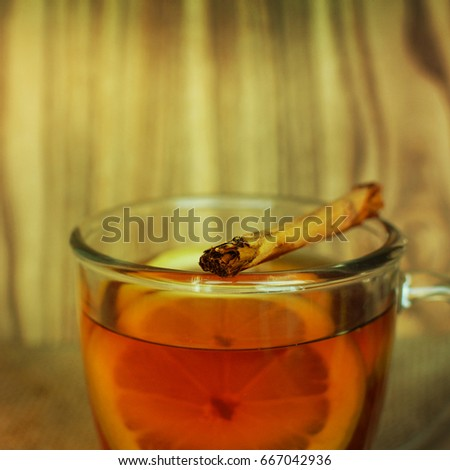 Christmas mulled wine with oranges and spices #667042936