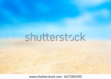 Sand beach and Beautiful sea background in summer. #667286500