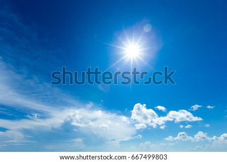 clouds in the blue sky #667499803