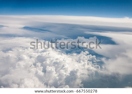 Above the clouds. Photo from the airplane.