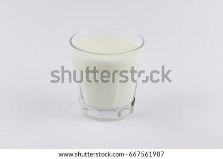 Yogurt in a transparent glass #667561987