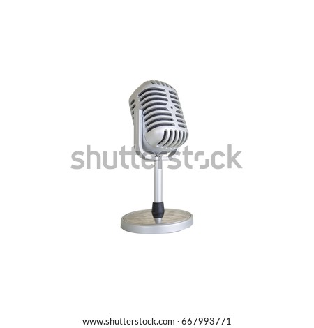 Retro microphone isolated on isolate background. #667993771