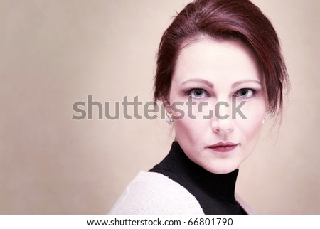 portrait  of middle age  woman. #66801790