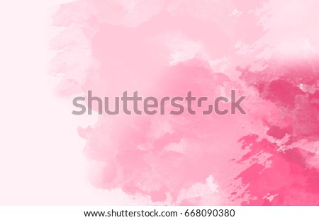 Abstract colorful water color,pink rose tone.