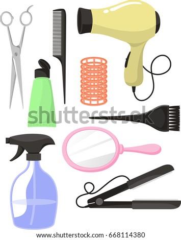 hair salon equipment clip art