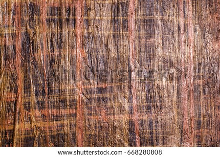Brown wooden painted surface, textural abstract background #668280808