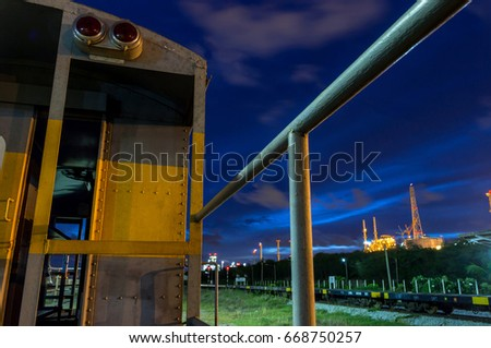 Railway industry in the city with Twilight #668750257