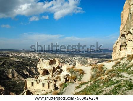 Beautiful view of Cappadocia, open air museum, Turkey  #668824234