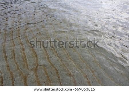 See through underwater sand ripples at Tioman Island #669053815