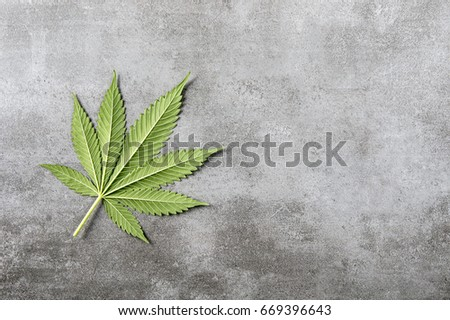 Cannabis Leaf on a stone Font #669396643
