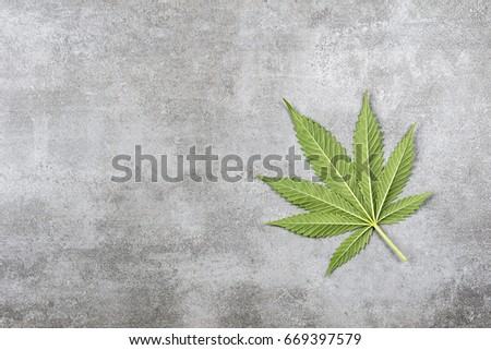 Cannabis Leaf on a stone Font #669397579