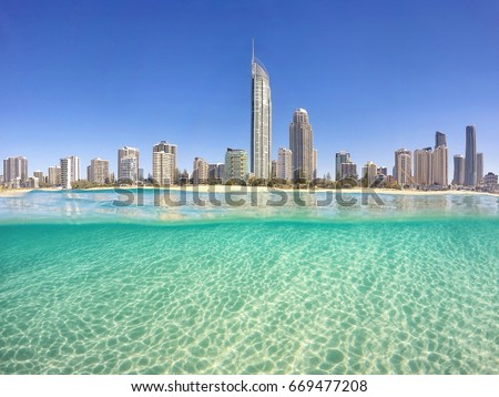 Surfers Paradise from the water. #669477208