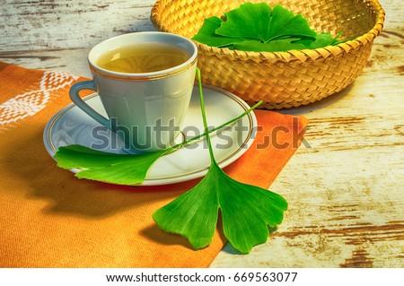 Healing ginkgo biloba tea #669563077