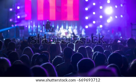 Crowd People At Rock Concert #669693712