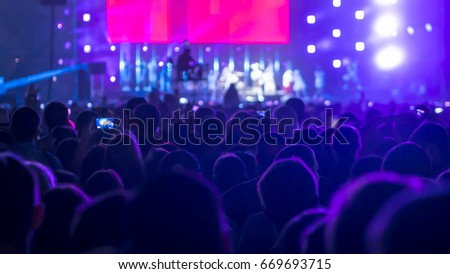 Crowd People At Rock Concert #669693715