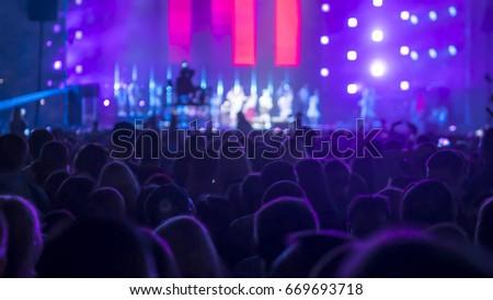 Crowd People At Rock Concert #669693718