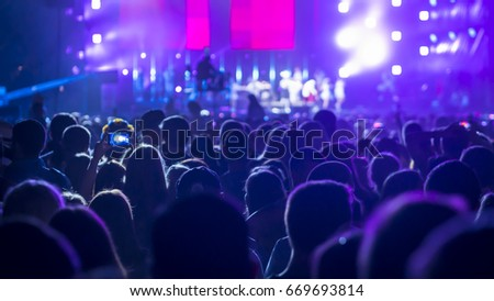 Crowd People At Rock Concert #669693814