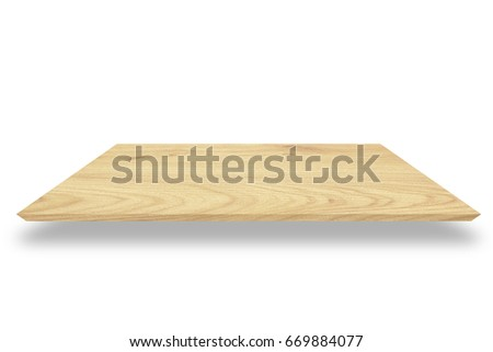 Wooden flooring isolated on the white background. #669884077