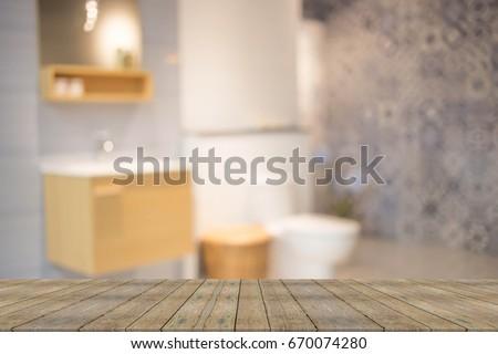 Abstract blur modern  bathroom interior background  #670074280
