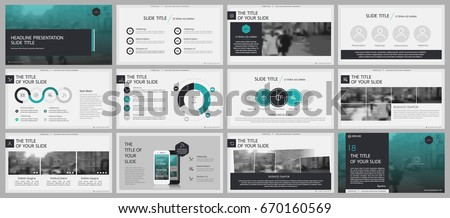 Green and gray elements for infographics on a white background. Presentation templates. Use in presentation, flyer and leaflet, corporate report, marketing, advertising, annual report, banner. Royalty-Free Stock Photo #670160569