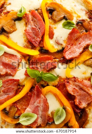 Pizza on white background  #670187914