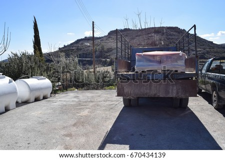 Cypriot wines. Winery on the slope of Troodos Mountains. Cyprus island #670434139