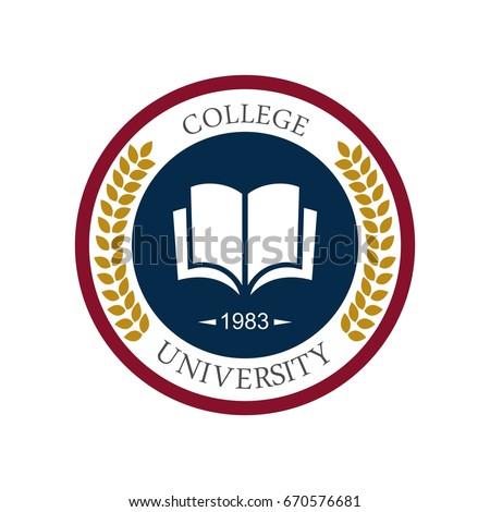 University education logo design Royalty-Free Stock Photo #670576681