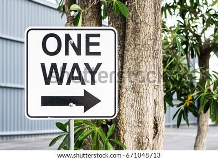 signs, one way signs