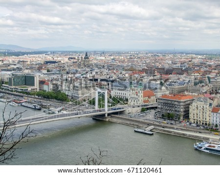 aerial view of Budapest, the capital city of Hungary #671120461