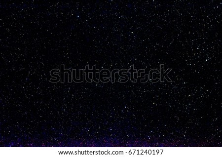 Stars and galaxy outer space sky night universe black background  #671240197