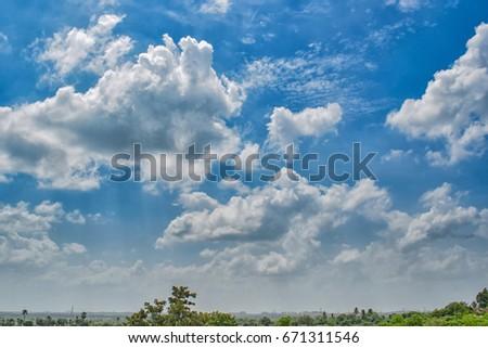 Blue Clouds Nature #671311546