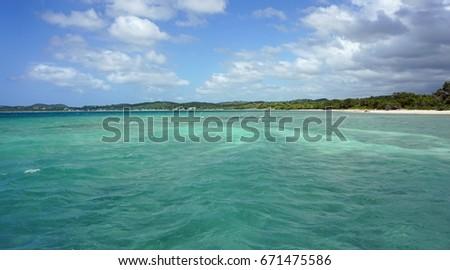 tropical bach near punta rusia in the dominican republic #671475586