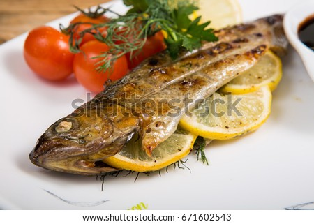 Fish with grill #671602543