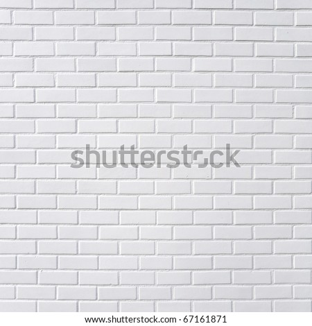 Square white brick wall background #67161871