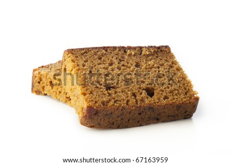 Dutch breakfast cake, often spiced with cloves cinnamon and nutmeg.  Isolated on white background #67163959