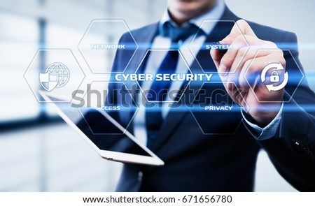 Cyber Security Data Protection Business Technology Privacy concept #671656780
